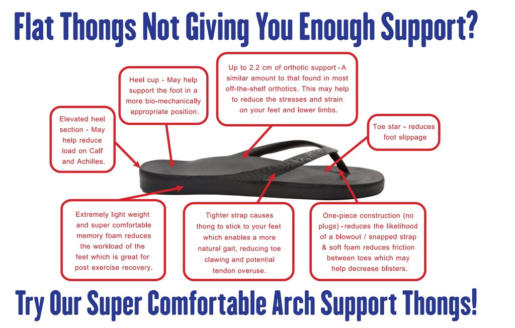 Awesome Archie Arch Support Thongs! 1